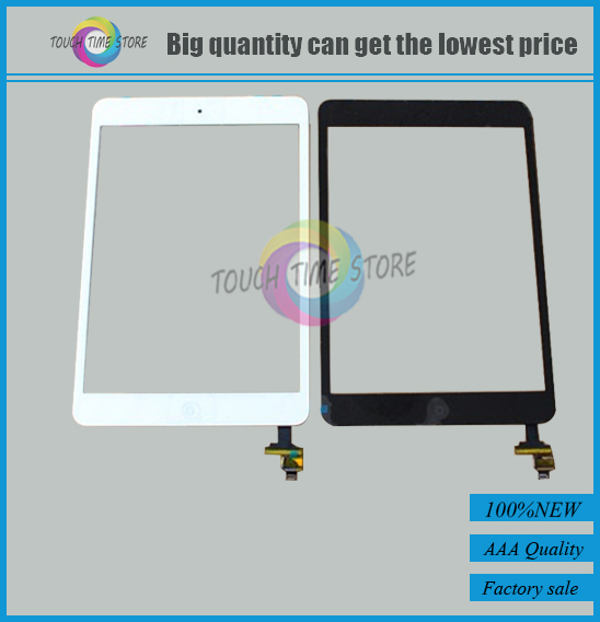 Original Screen Digitizer for ipad mini A1455 A1432 A1454 A1489 A1490 screen with IC Connectore & home button Flex Replacement(China (Mainland))