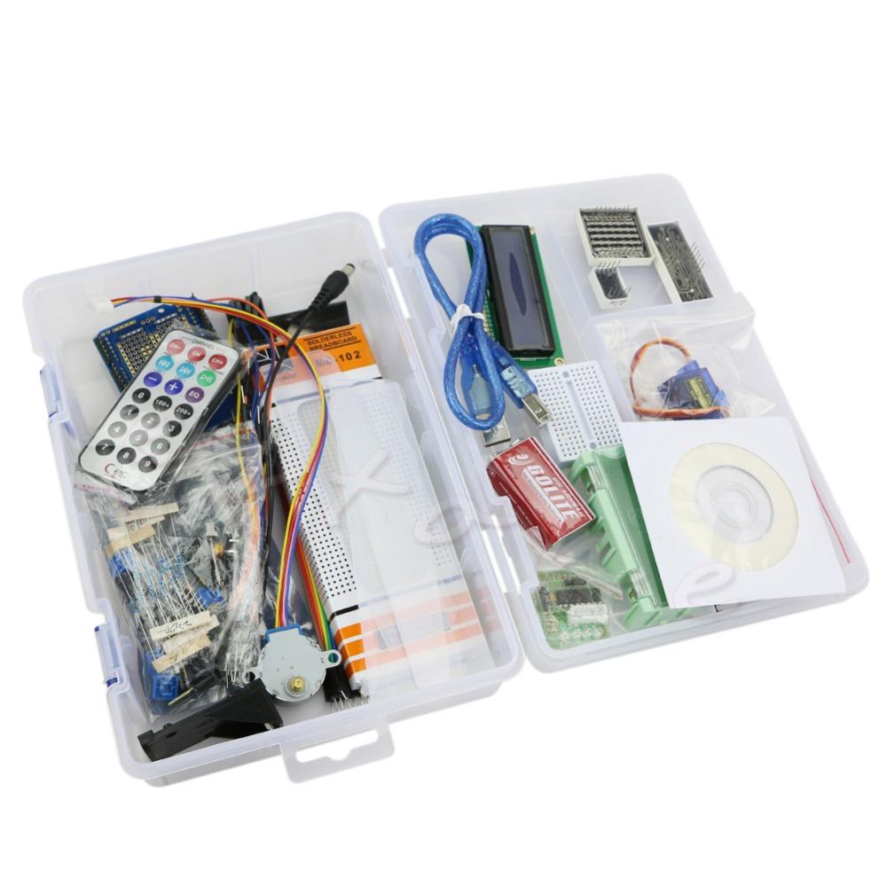 J34 1set UNO R3 Starter Kit 1602 LCD Motor Dot Matrix Breadboard LED Set Arduino