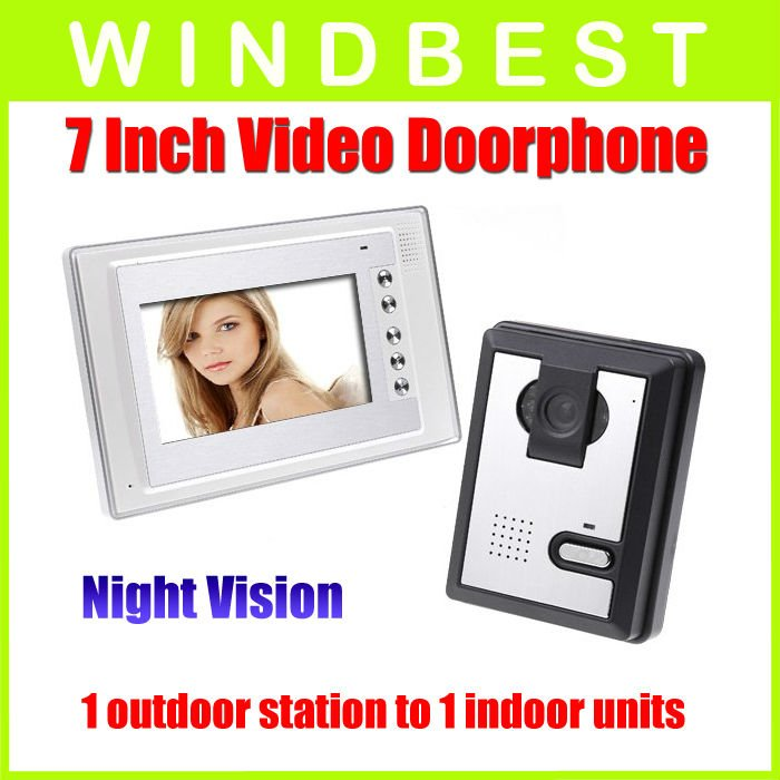 Freeshipping Dropshipping 7 Inch Video Door Phone doorphone Doorbell Intercom Kit 1-camera to1-monitor Night Vision<br><br>Aliexpress