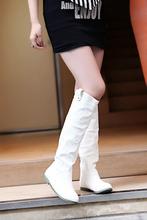2014 La Más Nueva Manera de Las Mujeres de La Rodilla Cargadores de Las Señoras Atractivas de la Nieve del Invierno Patea Los Zapatos del precio de fábrica caliente 4 colores del tamaño grande 4-12 A155(China (Mainland))