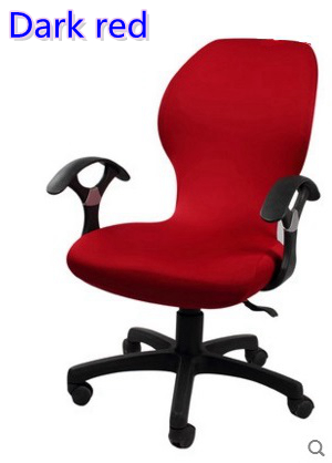 dark red colour lycra computer chair cover fit for office chair with