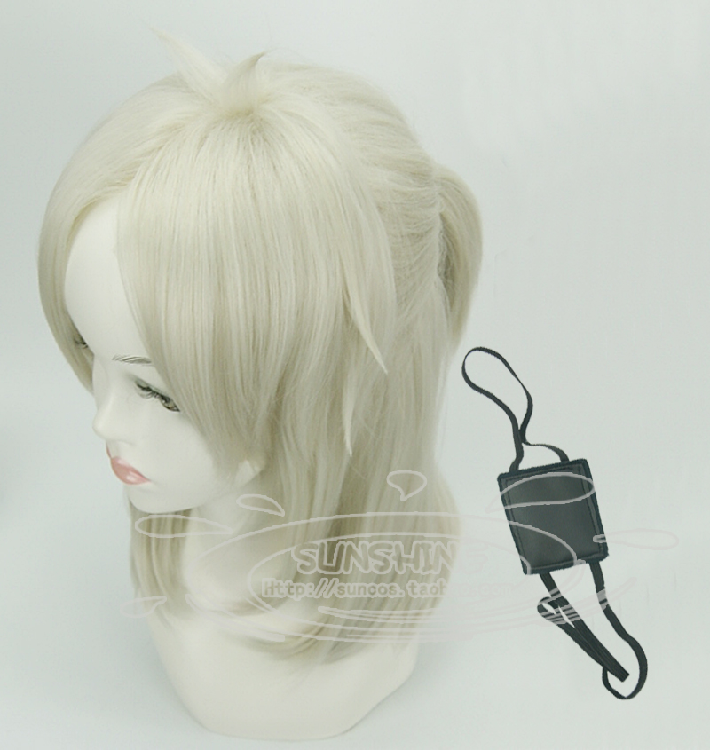 "[sunshine]GANGSTA Arcangelo Worick 45cm 18"" cosplay wig eyeshade anime hair Heat resistance fibre man hair free shipping+Cap(China (Mainland))"
