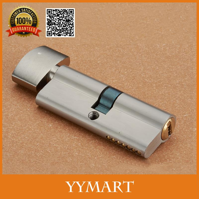700mm Nickle Satin Zinc Alloy Interior Door Pure Copper Cylinder Lock Core Double Side With 3 Keys Security(China (Mainland))