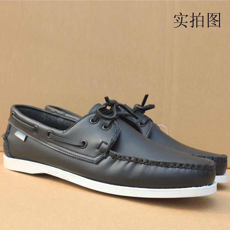 unisex Spring and autumn casual leather trend Moccasins fashion leather popular male shoes breathable boat shoes sailing shoes<br><br>Aliexpress