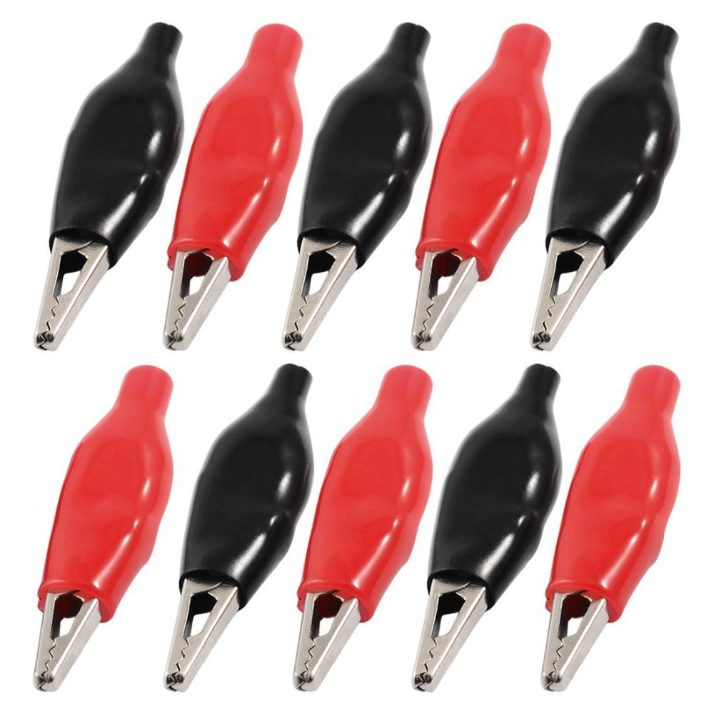 Free shipping 20 PCS Metal Alligator Clip crocodile electrical Clamp FOR Testing Probe Meter 35MM Black