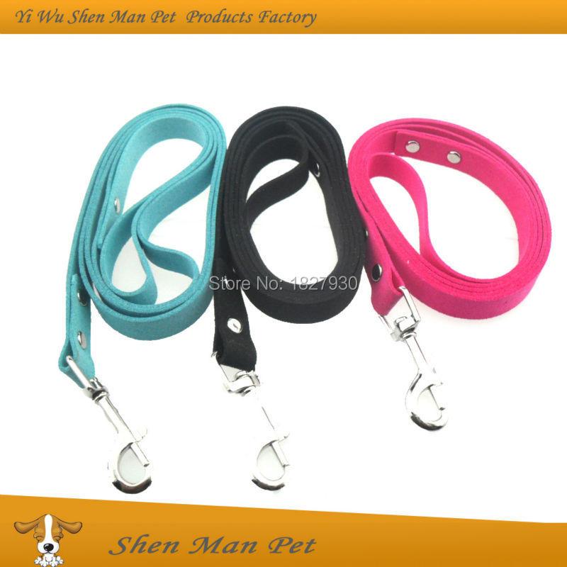 1.5*120cm 2015 New Design Fashion Black Blue Rose Purple Korea Suede Soft Super Fiber Dog Leash and Leads for Small Pet Dog(China (Mainland))
