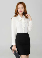 New Autumn Winter Women Skirt Suit Work Wear Sets Long Sleeved Blouse sets for Office Ladies Business Career Plus Size XXL