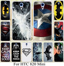 New arrival Phone Cover Cases For HTC Desire 620 620G Desire 820 Mini D820mu Case Cover super man bat man superman logo (China (Mainland))