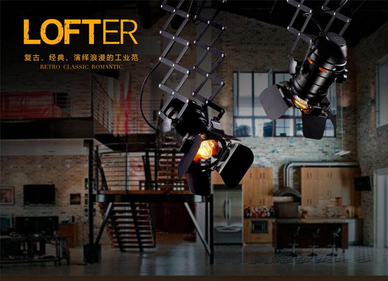 American Loft Style Personality Iron Probe LED Shot Lamp Cloth Shop Restaurant Ceiling Lamp Coffee Shop Light Free Shipping(China (Mainland))