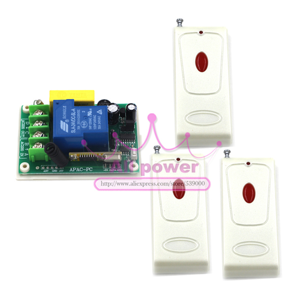 220V 30A 3000W RF Wireless Remote Control Switch Light LED Lamp Applicance ON OFF Working Way