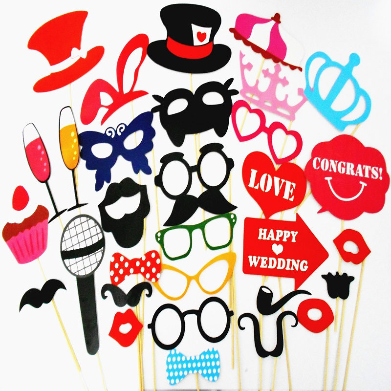 Photo Booth Props Mustache On A Stick Wedding Party Photobooth Fun Bunny Cat Masks Bridesmaid Gifts For Wedding Party Decoration(China (Mainland))