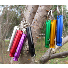 Survival Whistle color Random Aluminum Emergency Camping utility tools hot sale new convenient to carry(China (Mainland))
