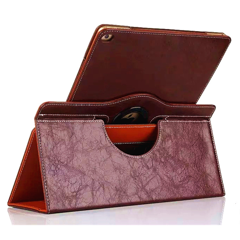 """Luxury Genuine Leather Case for Apple iPad Pro 12.9"""" Tablet Stand Cover 360 Rotating Leather Case for iPad Pro with Card Slots(China (Mainland))"""