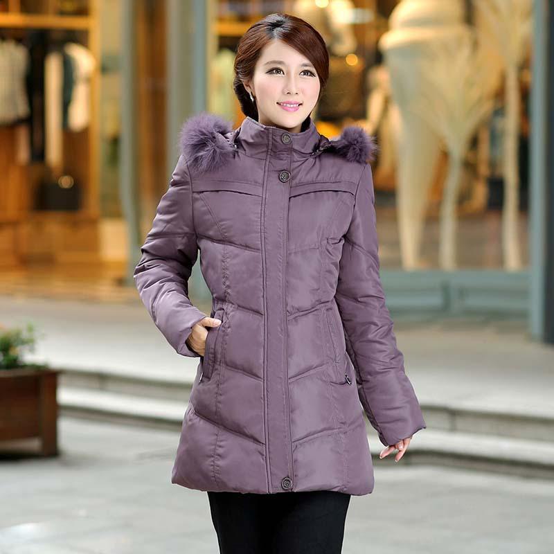 Зима куртка хлопок длинная, женщины мех верхняя одежда пуховик - мягкий куртка пальто ватные куртка зима пальто женщины