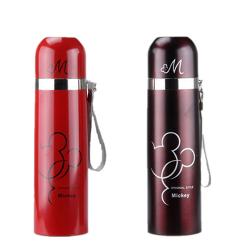 Thermos vacuum flasks cups garrafa mugs Stainless Steel Bottle bullet stoving varnish design 500ML Drinkware I-1 free shipping(China (Mainland))