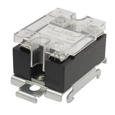 SSR-10VA 10A Solid State Relay Voltage Resistance Regulator SSR w DIN Rail Base
