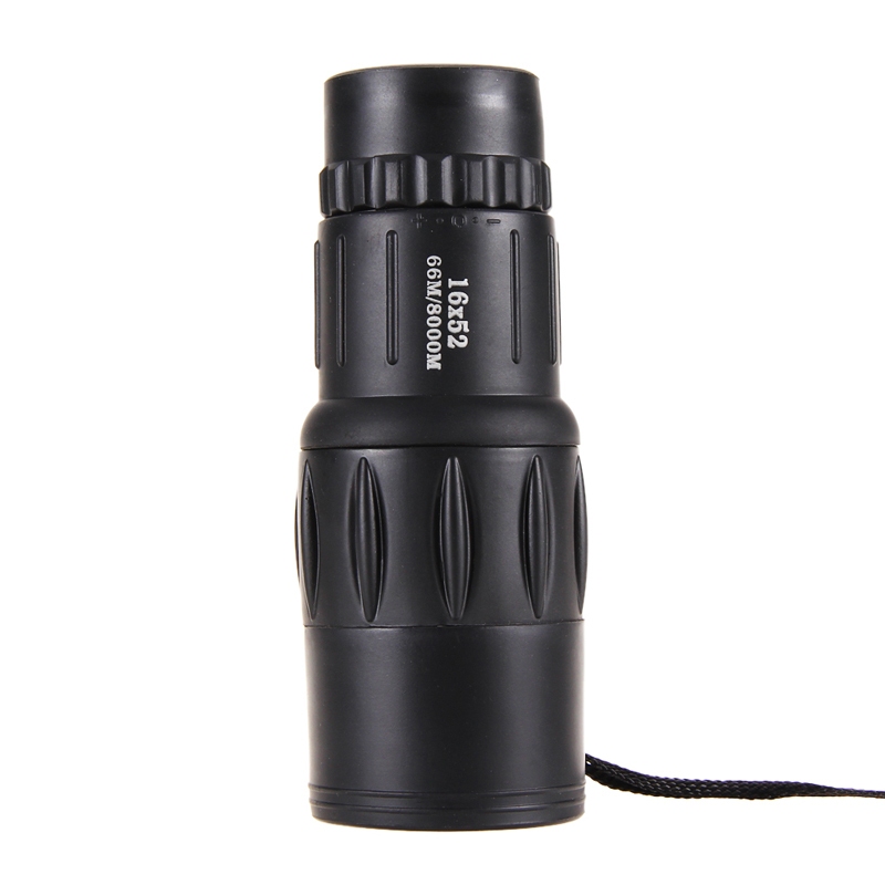 16x52MM Adjustable Ocular Lens Optical Monocular Travel Camping Hunting Monocular Telescope With Bag 1JT