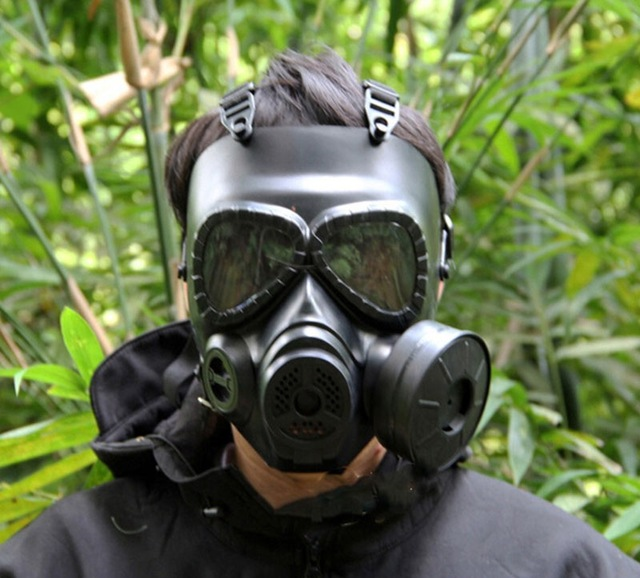 Tactical Skull Masks Resin Full Face fog fan Gas Masks for CS Wargame Airsoft paintball Face protective M04 Security Supplies(China (Mainland))
