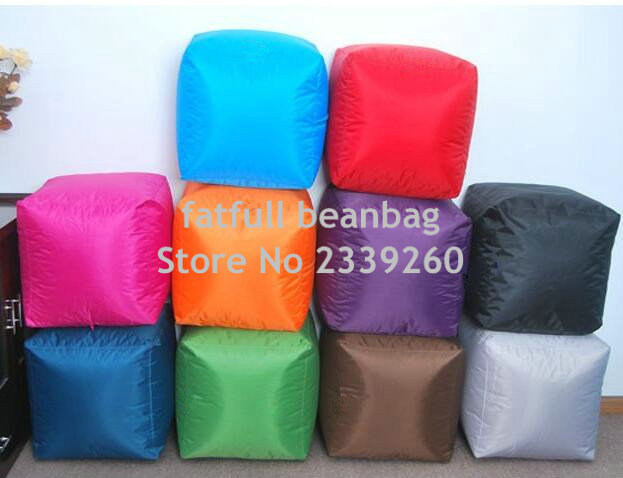 COVER ONLY NO FILLER - outdoor waterproof colorful lovely cute square fire resistant bean bag chairs floor footstool ottomans(China (Mainland))
