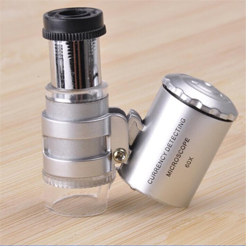 2015 New microscope camera portable 60x binocular microscope digital with LED Loupe Useful Tools Hot(China (Mainland))