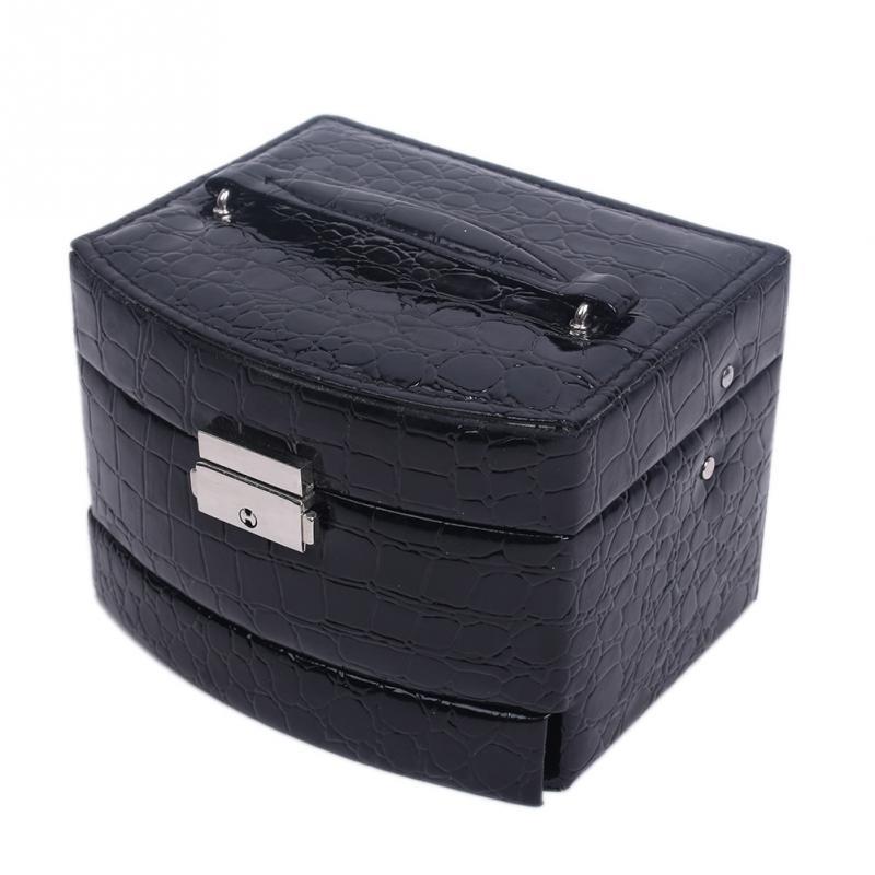 Jewelry Box Hot Mirror Display Storage Case Three Layers Organizer Box Exquisite(China (Mainland))