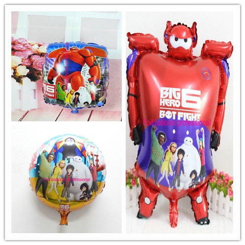 3pcs/lot Baymax foil air balloons robot globos big hero 6 helium ballons kids baby classic toys birthday party decorations<br><br>Aliexpress