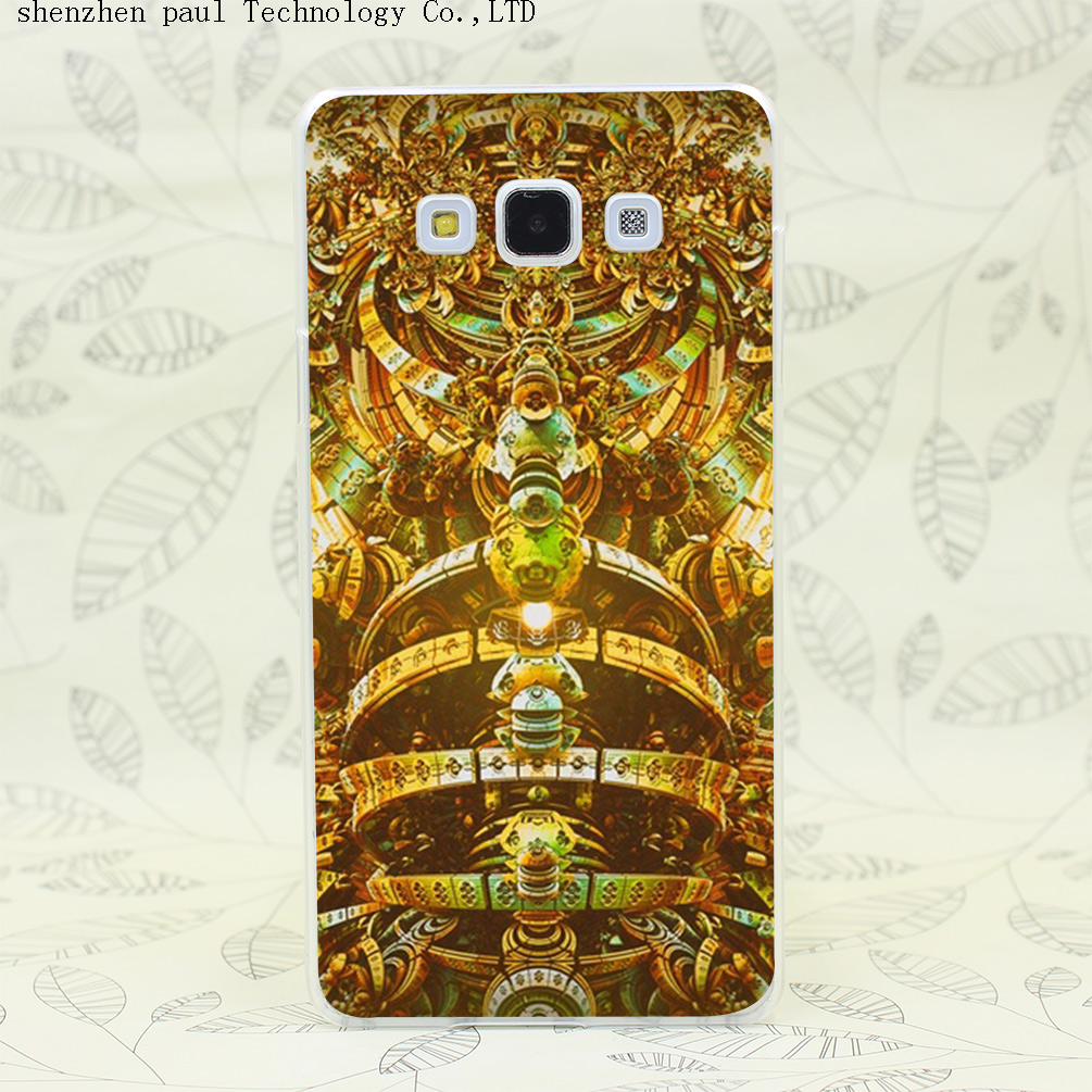 39i Az Tech Gold Hard Transparent Case Cover for Galaxy A3 A5 A7 A8 Note 2 3 4 5 J5 J7 Grand 2 Prime(China (Mainland))