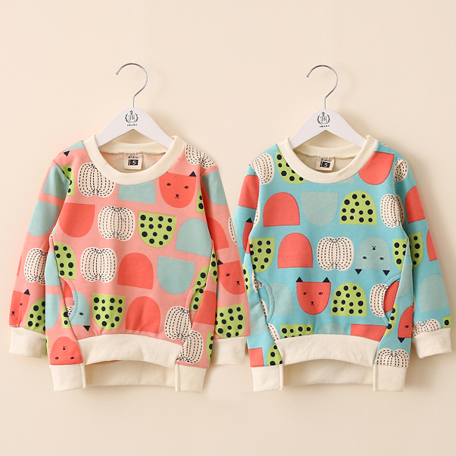 2014 autumn doodle fruit girls fashion novelty pullover sweatshirt outerwear wt-2801(China (Mainland))