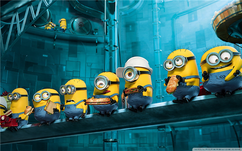 Free Shipping Despicable Me Minoons Custom Poster Stylish Wallpaper New Design Canvas Sticker