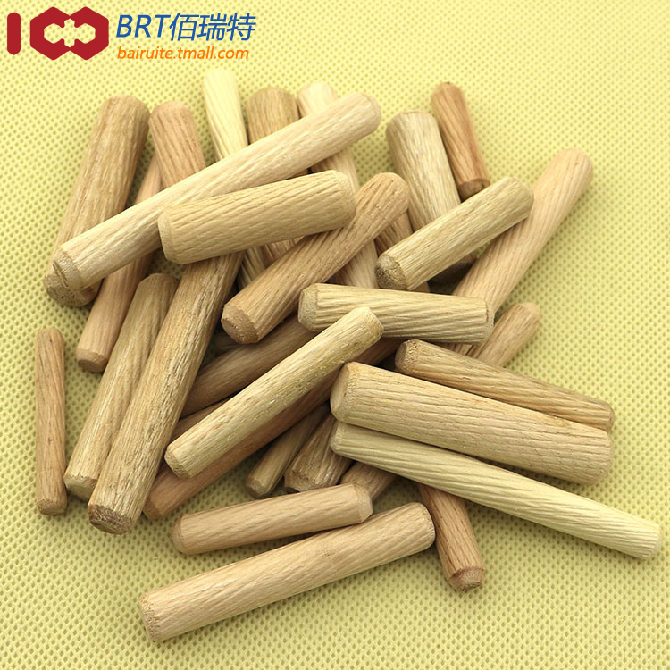 Wooden sticks twill log tenon cork wood dowel Shaw triple wedge furniture fittings special M6 * 25(China (Mainland))