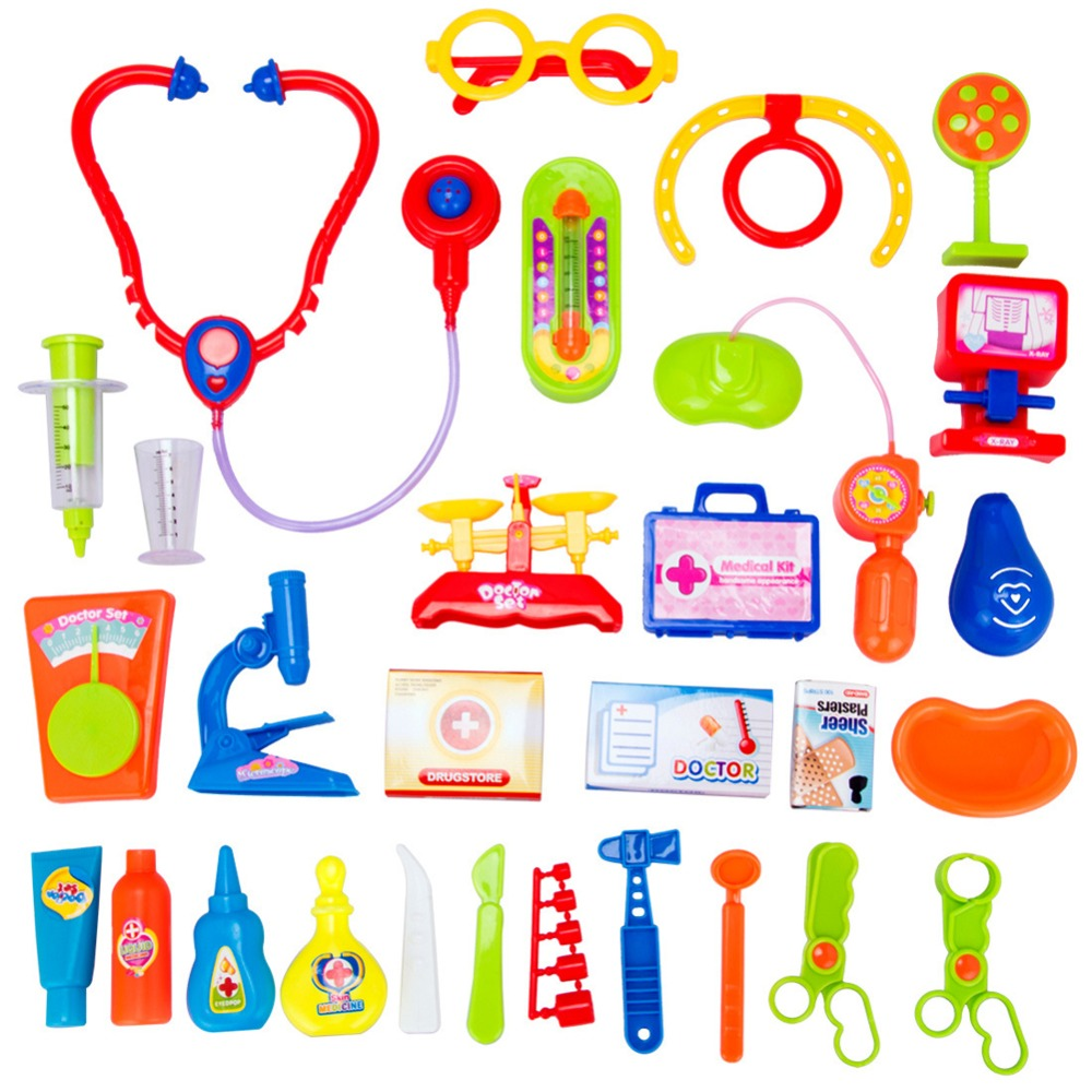 2016 New Arrival Simulation Medicine Box Doctor Toys Stethoscope Injections Doctor Playsets Kids Children Gift(China (Mainland))