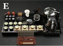 Drinkware Yixing purple sand cooking tools Kung fu tea set Solid wood tea tray tea ceremony