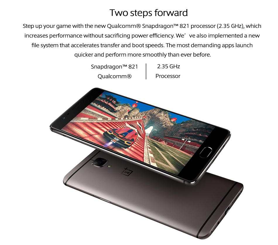 International Firmware OnePlus 3T 64GB A3003 5.5″ FHD Android 6 Snapdragon 821 6GB RAM 64GB ROM 16MP NFC Mobile Phone Oneplus 3T