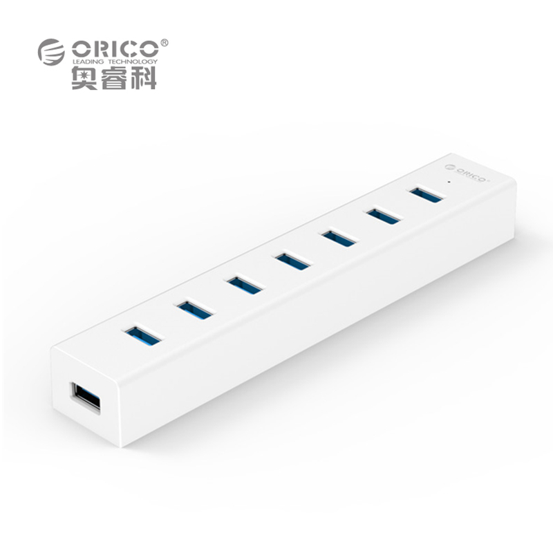 ORICO H7013-U3-V1-WH Super Speed 5Gbps ABS USB 3.0 7 Ports HUB (without power adapter) -White(China (Mainland))