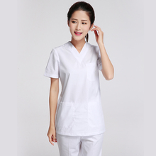 Женская Мода скрабы топы белого цвета медицинская одежда(China)