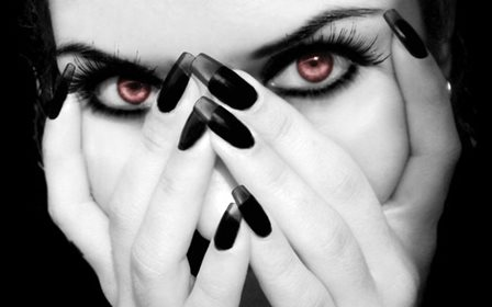 gothic dark witch eyes fantasy occult Home Decoration Canvas Poster