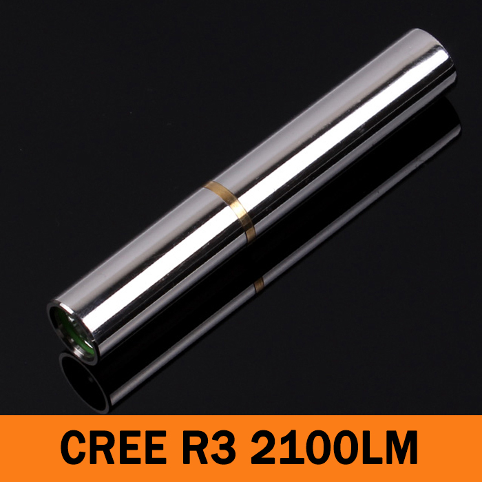 LED MINI Flashlight Stainless steel Torch Cree R3 2100 Lumens Mode multipurpose 10440 Rechargeable waterproof(China (Mainland))