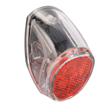 SATE LITE Solar Power Bike Bicycle LED Cycling Tail Rear Red Light Lamp CS268