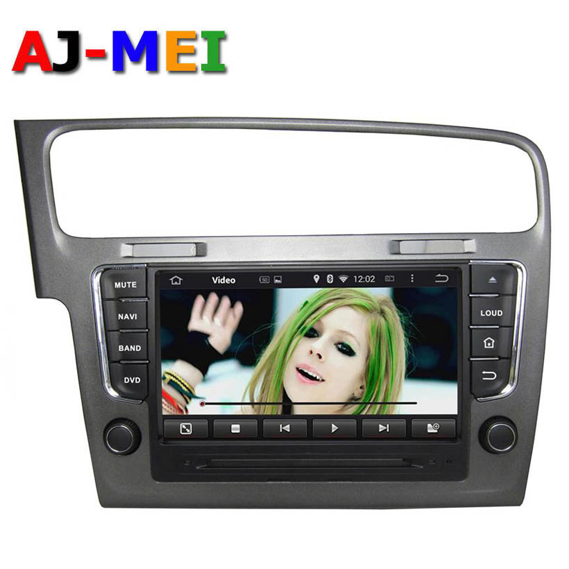 GPS Navigator Android 4.4.4 Quad Core DVD Automotive para carro for Volkswagen Golf 7 Golf VII Car Radio Stereo Cassette Player(China (Mainland))