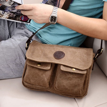 fashion Men s bags Vintage Canvas casual Shoulder Messenger bag hasp cover bag travel military Bag