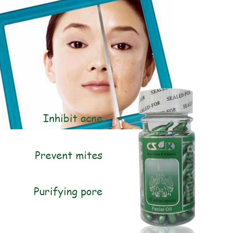 skin care Acne Pimples essence, avocado oil protein hormone, pearl powder, balance sebum secretion, Vitamin E capsule(China (Mainland))