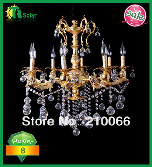 Freeshipping NEW type Modern Crystal chandelier with 8 Lights crystal pendants droplight for hotel bedroom