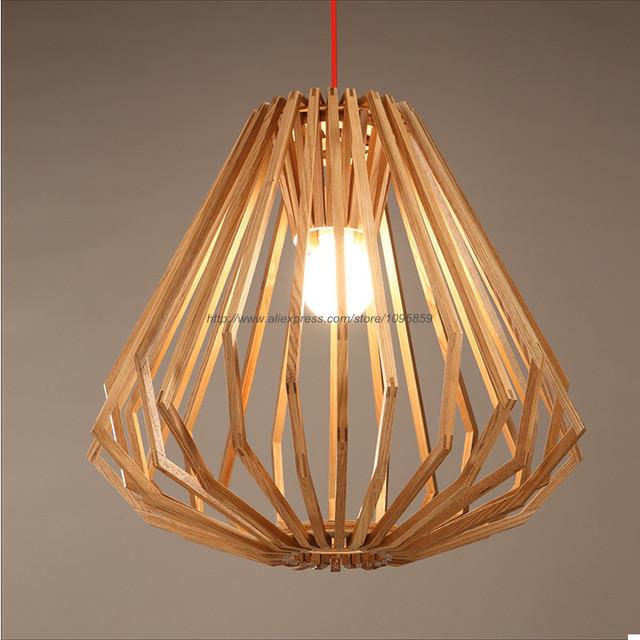 Comprar moderno estilo n rdico de madera - Lampara de techo de madera ...