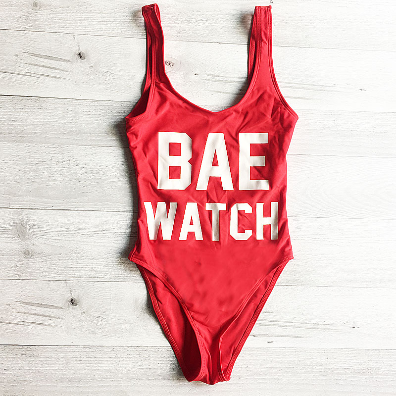 bae watch swimsuit red 3