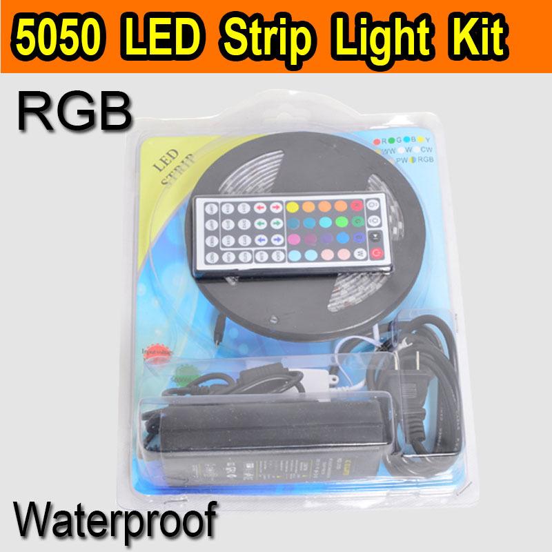 5m tape 300leds 5050 smd rgb white warm white led strip light kit