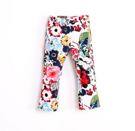 Wholesale colorful fashion flower pants kids printed pants lovely kids trousers childrens wear spring childrens trousers YS094<br><br>Aliexpress