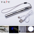 2017 NEW Aluminium Alloy Waterproof LED USB Chargeable Flashlight Powerful Rechargeable Cree Torch Keychain Pen Flashlight