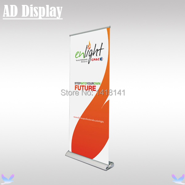 85*200cm 5PCS Premium Plastic Steel Wide Base Roll Up Banner Display Stand,Pull Up Banner,Marketing Leading Promotional Stand(China (Mainland))