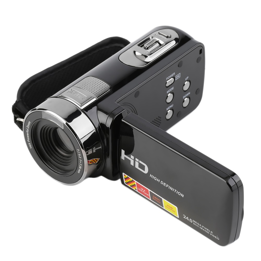 2016 NEW 3.0 inch FHD 1080P 16X Optical Zoom 24MP Digital Video Camera Camcorder DV In stock!(China (Mainland))
