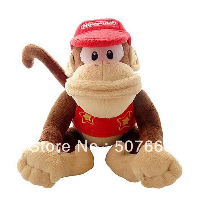 Wholesale 50pcs/Lot 12inch/30cm Super Mario Diddy Kong Plush Doll Soft Toy(China (Mainland))
